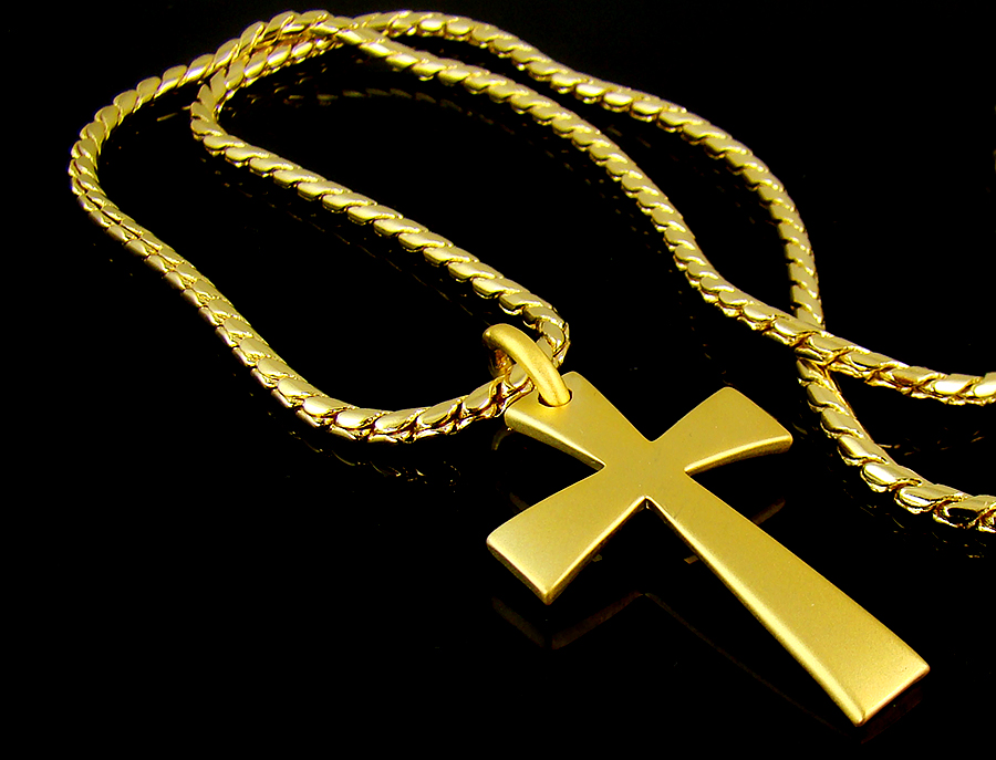High quality 18k gold plated mens cross pendant chain necklace high quality 18k gold plated mens cross pendant chain necklace hiphop gift idea ebay audiocablefo