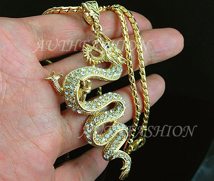 315 big hiphop punk 18k gold plated mens chinese dragon pendant we pack the items as ready to be a nice gift in the beautiful gift case aloadofball Choice Image