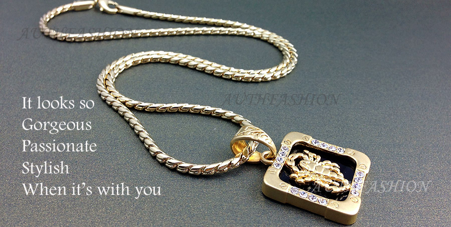 High q 18k gold plated mens square scorpion pendant necklace hiphop proudly presents this exclusive fine 18k gold nano injection plated squared scorpion pendant with necklace mozeypictures Images
