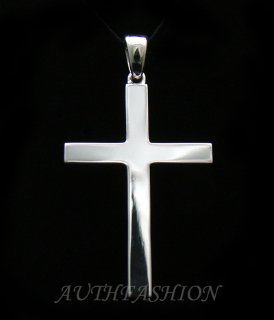FB Jewels 925 Sterling Silver 46x30mm Crucifix 25 Necklace