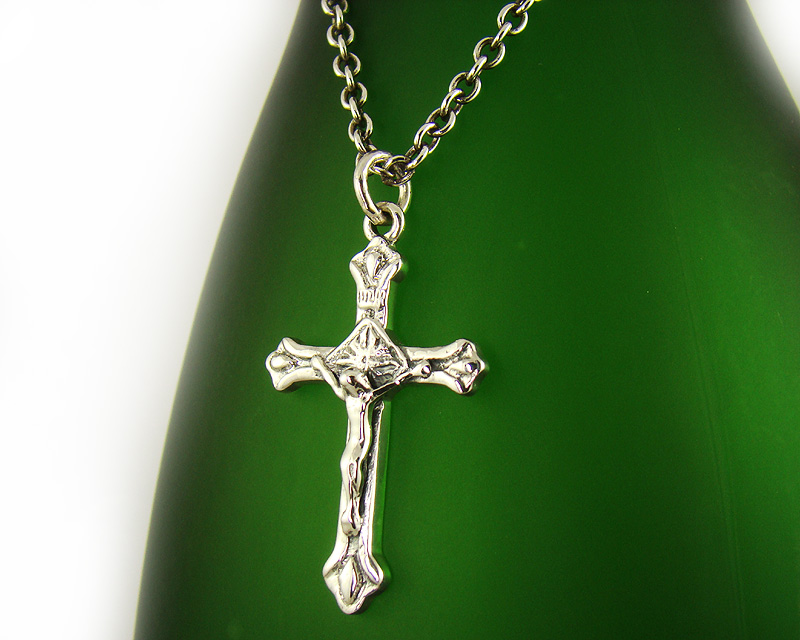 Mens sterling silver 925 jesus crucifix cross pendant necklace gift we guarantee this is solid sterling silver 925 if not full refund aloadofball Images